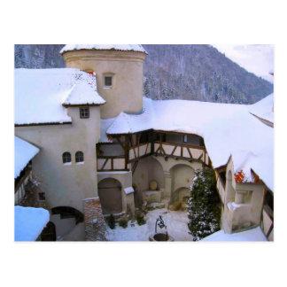 Carte Postale Le château de Dracula, son, la Transylvanie, hiver