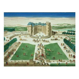 Carte Postale Le château Rambouillet, gravée par Antoine Aveli
