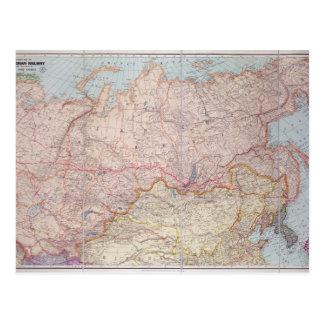 Carte Postale Le chemin de fer sibérien
