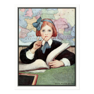 Carte Postale Le chercheur par Jessie Willcox Smith