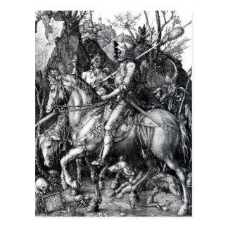 Carte Postale Le chevalier, la mort et le diable par Albrecht