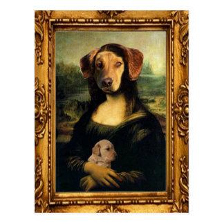 Carte Postale Le chien de Mona Lisa - Golda Lisa - portrait