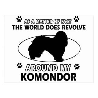 Carte Postale Le chien tourne autour de mon KOMONDOR