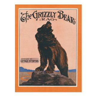 Carte Postale Le chiffon d'ours gris