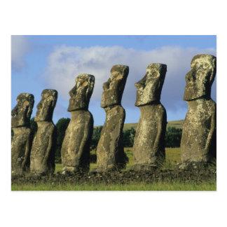 Carte Postale Le Chili, île de Pâques, Rapa Nui, Ahu Akivi