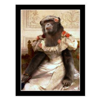 Carte Postale Le chimpanzé de Bouguereau