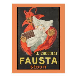 Carte Postale Le Chocolat Fausta Seduit