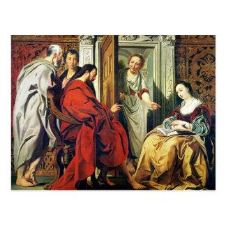 Carte Postale Le Christ à la Chambre de Martha et de Mary de