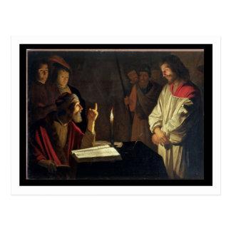 Carte Postale Le Christ avant Caiaphas (huile sur la toile)
