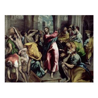 Carte Postale Le Christ conduisant les commerçants par le temple