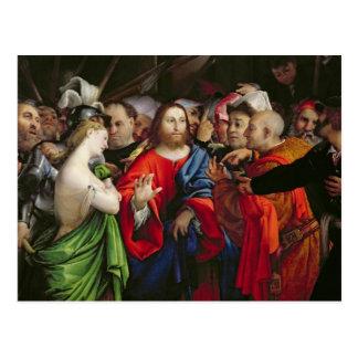 Carte Postale Le Christ et l'adultère, c.1527-29