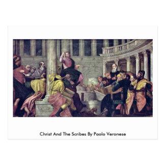 Carte Postale Le Christ et les scribes par Paolo Veronese