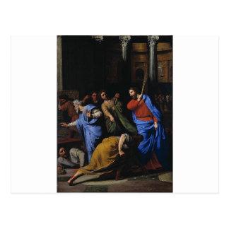Carte Postale Le Christ expulsant les distributeur de monnaie
