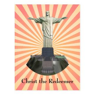 Carte postale : Le Christ la statue de rédempteur