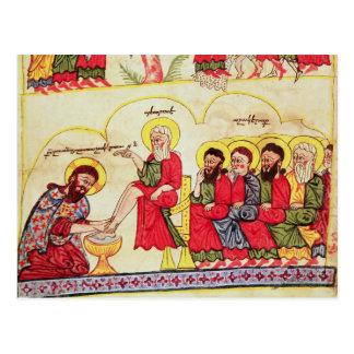 Carte Postale Le Christ lavant les pieds de disciples