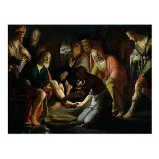 Carte Postale Le Christ lavant les pieds des disciples, 1623