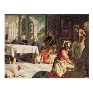 Carte Postale Le Christ lavant les pieds des disciples 2