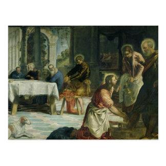 Carte Postale Le Christ lavant les pieds des disciples, c.1547
