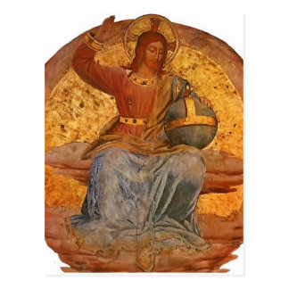 Carte Postale Le Christ le juge par ATF Angelico
