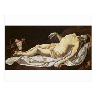 Carte Postale Le Christ mort (huile sur la toile) 2