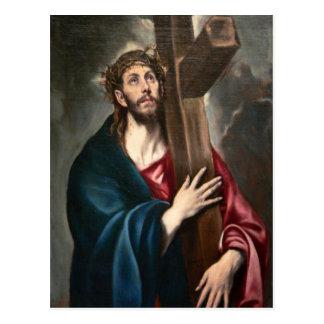 Carte Postale Le Christ portant la croix