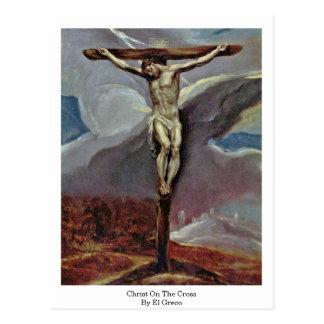 Carte Postale Le Christ sur la croix par El Greco