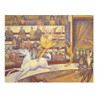 Carte Postale Le cirque par Georges Seurat, Pointillism vintage
