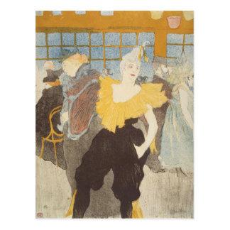 Carte Postale Le Clownesse dans le fard à joues, 1897