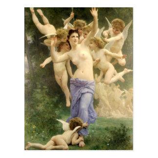 Carte Postale Le coeur se réveillant par Bouguereau