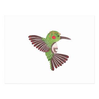 Carte Postale Le colibri vert
