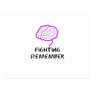 Carte Postale Le combat pourpre de conscience d'Alzheimers se