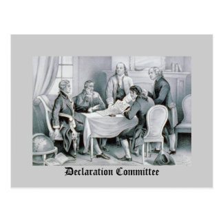 Carte Postale Le Comité de déclaration