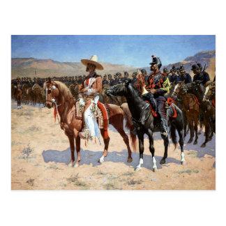 Carte Postale Le commandant mexicain de Frederic Remington