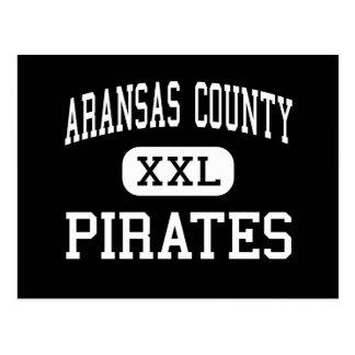 Carte Postale Le comté d'Aransas - pirates - haut - Rockport le