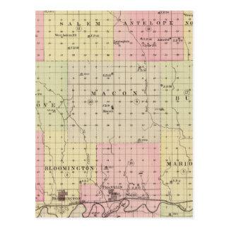 Carte Postale Le comté de Franklin, Nébraska
