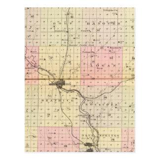 Carte Postale Le comté de Gage, Nébraska