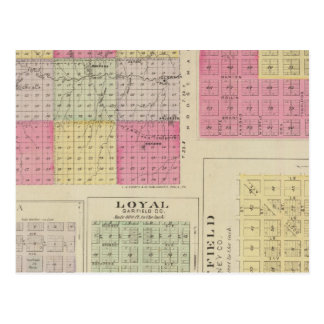 Carte Postale Le comté de Garfield, Creola, Ravanna, loyal, le
