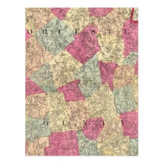 Carte Postale Le comté de Worcester