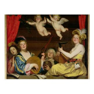 Carte Postale Le concert, 1624
