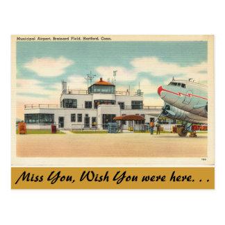 Carte Postale Le Connecticut, aéroport municipal, Hartford