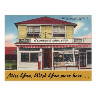 Carte Postale Le Connecticut, magasin de la soude d'O'Connor,