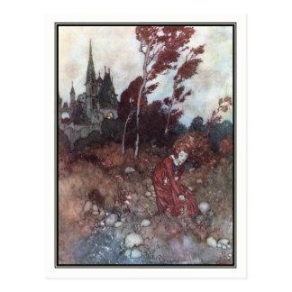 Carte Postale Le conte du vent par Edmund Dulac