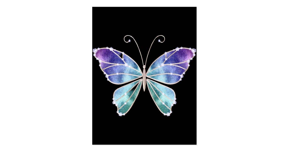 Carte postale le cool ombrage le papillon d 39 ailes d 39 arc en for Paillon d ombrage