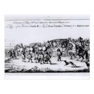 Carte Postale Le cortège de Charles II