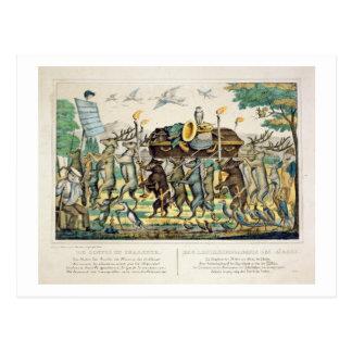 Carte Postale Le cortège du chasseur, c.1850 (main colorée