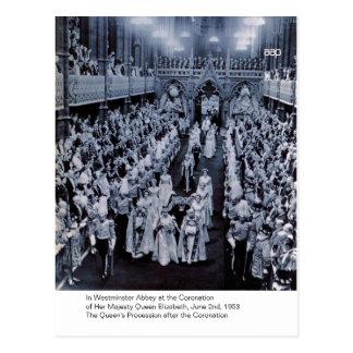 Carte Postale Le couronnement de H.M. Queen Elizabeth