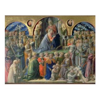 Carte Postale Le couronnement de la Vierge, 1441-7 (tempera sur