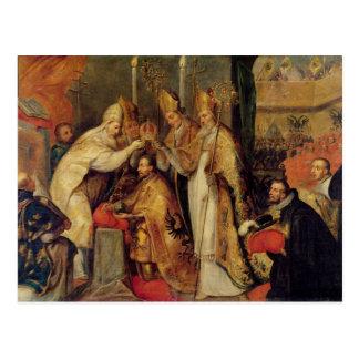 Carte Postale Le couronnement de l'empereur romain saint de