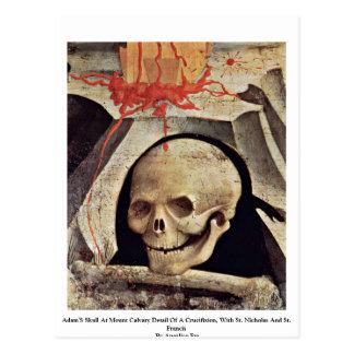 Carte Postale Le crâne d'Adam au détail de calvaire de bâti d'un