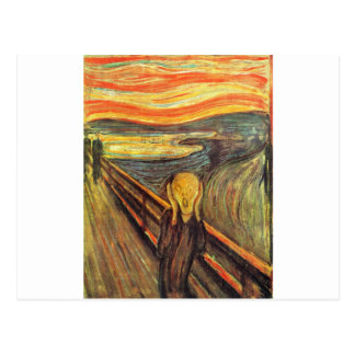 Carte Postale Le cri perçant - Edvard Munch